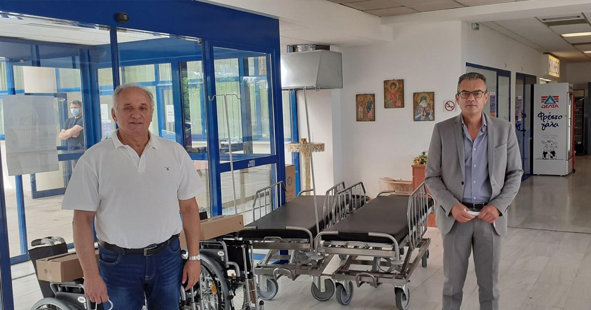 Δήμος Θηβαίων: Δωρεά φορείων και αναπηρικών αμαξιδίων στο Γενικό Νοσοκομείο Θηβών
